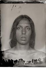 experimental tintype portrait