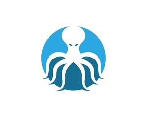 Octopus logo design template