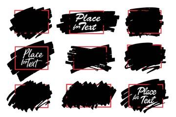 Paint, ink brush stroke, marker highlighter spot.