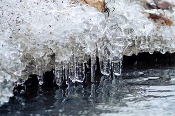 ice melting into a stream