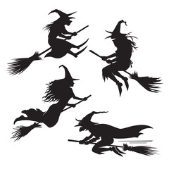 Witches silhouette Halloween