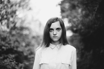 Portrait of a girl in a shirt
