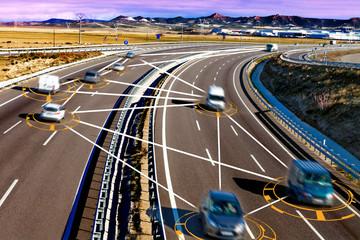 Coche y tecnologia. Conduccion autonoma y sistemas de seguridad.Transporte intelligente e inteligencia artificial