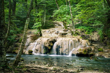 Cheile Nerei Beusnita waterfall in Romania