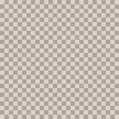 Brown spotted pattern. Repeating grid with squares. Vector illustration background.