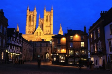 Lincoln Cathedral, by night. Fotomurales