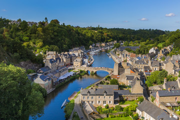 Village Dinan in Brittany - France Wall mural