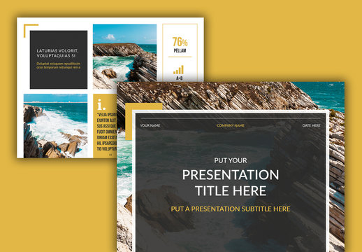 Presentation Layout with Yellow Accents