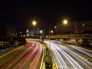 Light Trails on a Highway (Expressway)