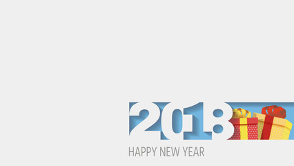2018 Happy new year. Numbers Design of greeting card of. Happy New Year Banner with 2018 Numbers. Vector illustration.