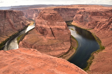 The destination named Horseshoe Bend canyon is very popular for traveler in USA photo