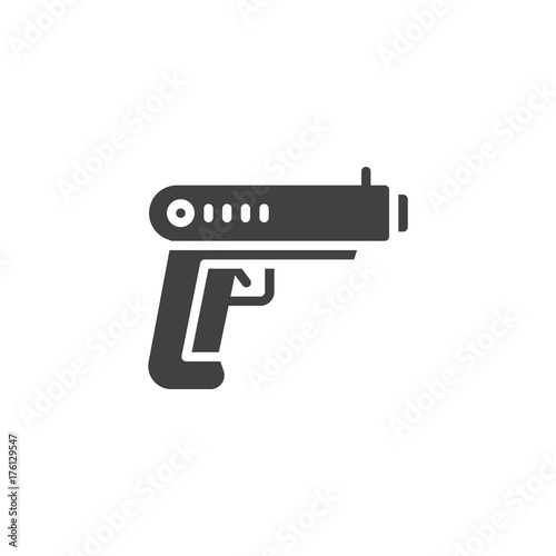 Gun Icon Vector Filled Flat Sign Solid Pictogram Isolated On White