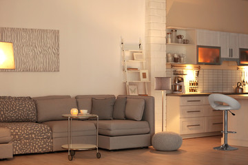 Beautiful interior of comfortable room