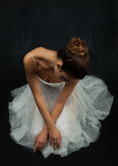 Portrait of a Young Beautiful Woman Ballerina Dancer