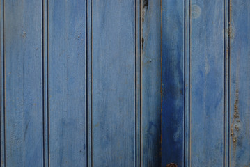 Retro wooden blue vertical wall background