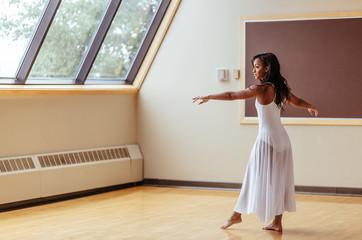 Dancer Warming Up In Studio