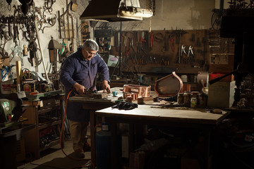 Blacksmith workshop, Italian craftsmanship.