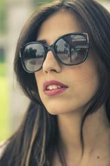 Stylish girl portrait