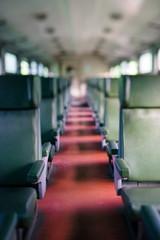Empty seats on open type passenger train