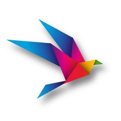 Fototapeta ptak origami wektor