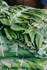 Betel Leaves at street market in Cambodia