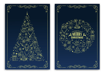 Christmas nd New Year greeting card