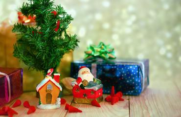 Decoration under christmas tree.christmas theme.