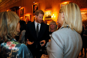 Prince Harry celebrates World Mental Health Day at Buckingham Palace in London