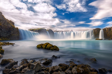 Amazing Godafoss waterfall
