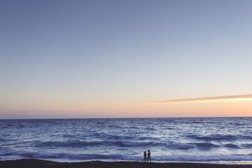 A dawn on the beach
