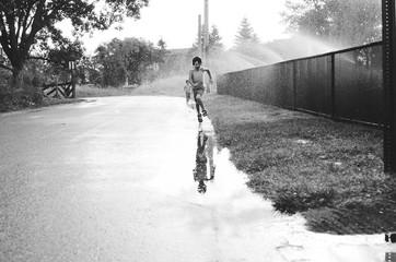 Boys and a Sprinkler