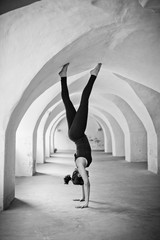 Woman doing a handstand