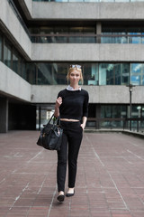 Young Business woman in the city