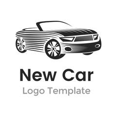 Abstract car logo design template. Modern car vector illustration
