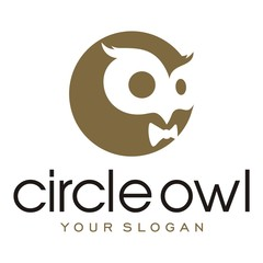 Wall Mural - Circle Owl icon