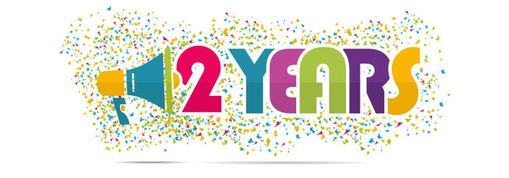 mégaphone mot : 2 years anniversary