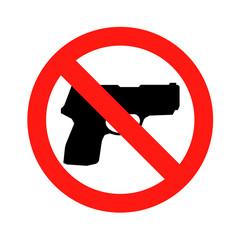 No gun sign No weapon symbol icon vector illustration eps