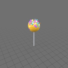Cake pop with sprinkles 4