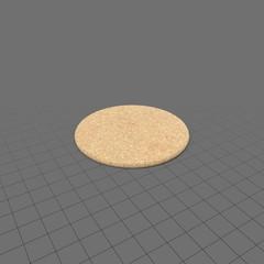 Single cork coaster
