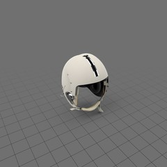Flight helmet with closed strap