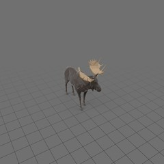 Stylized moose standing