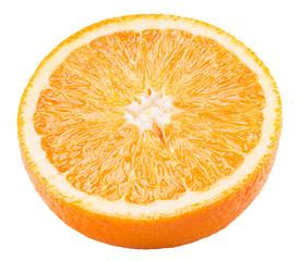 half of orange isolated on a white background