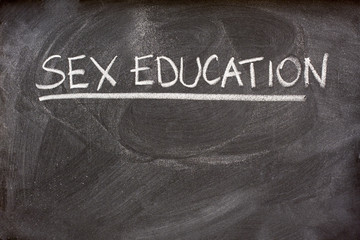 sex education as a class topic on blackboard