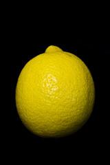 Close Up of Lemon On Black Background