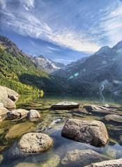 Morskie Oko lake in the Tatra Mountains, Zakopane, Poland