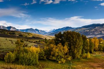 The Cimarron Range of Mountains Showing Autumn Color