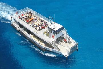 Tender Boat in Half Moon Cay, Bahamas