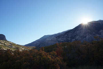 Autumn Trees In Mountains With Sunray 02