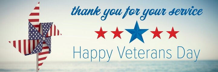 Composite image of logo for the veterans day in america