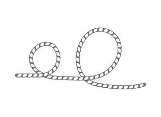 Lasso rope icon. Seamless decorative design element, creative handmade isolated vector illustration